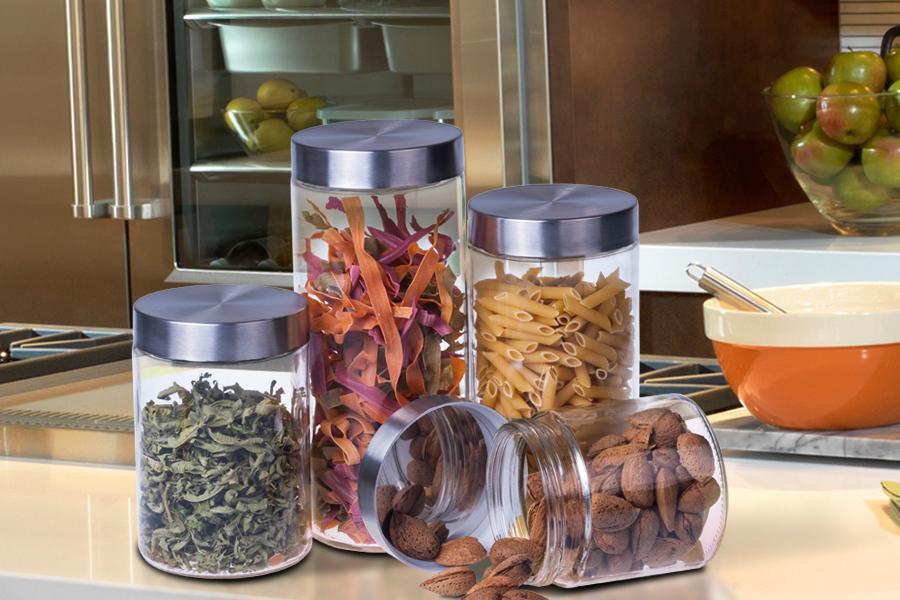 Βάζο για τρόφιμα inox